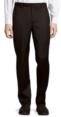 Saks Fifth Avenue Micronosphere Solid Wool Trousers