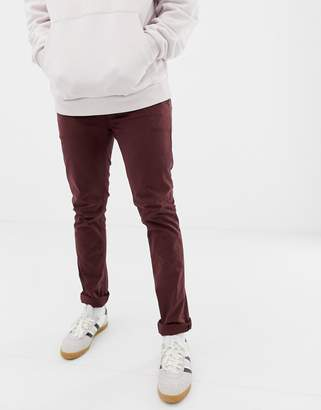 Nudie Jeans Slim Adam chinos in plum