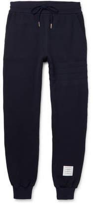 Thom Browne Slim-Fit Tapered Waffle-Knit Cotton Sweatpants