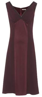 Bottega Veneta Sleeveless satin and crêpe dress