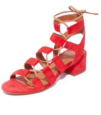 Frye Chrissy Side Ghillie City Sandals $278 thestylecure.com