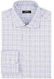 Fairfax Men's Plaid Cotton Dress Shirt - Lt. Blue
