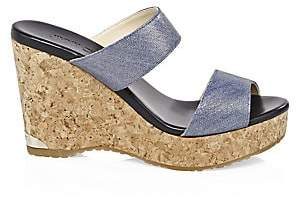 Jimmy Choo Women's Parker Denim Wedge Sandals