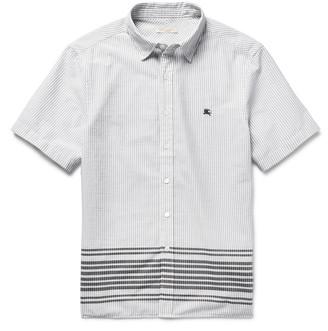 Burberry Brit Slim-Fit Striped Cotton Shirt $275 thestylecure.com