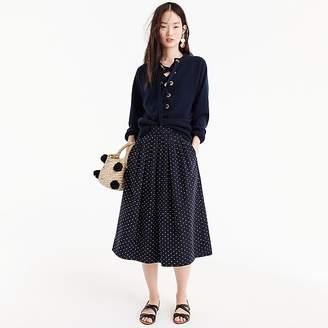 J.Crew Midi skirt in vintage clip dot