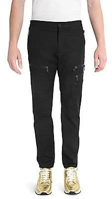 Versace Men's Slim Zip Cargo Pants