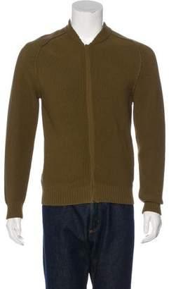 Lanvin Rib Knit Zip-Front Sweater