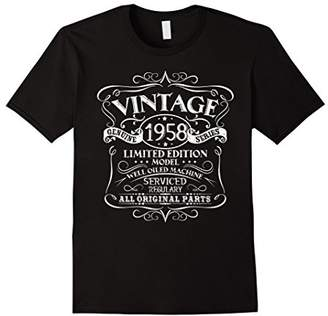 Vintage 60th Birthday Funny Tshirt 1958 All Original Parts