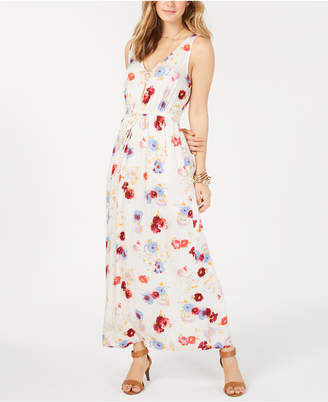 Lucky Brand Floral V-Neck Maxi Dress