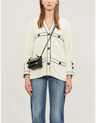 Maje Tweed-style cotton jacket