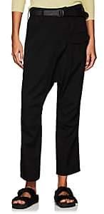 Yohji Yamamoto Women's Wool Drop-Rise Trousers - Black