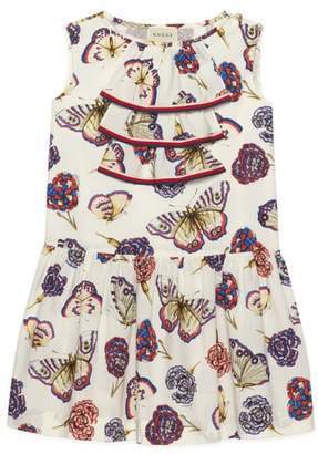 Gucci Butterfly Ruffle Dress