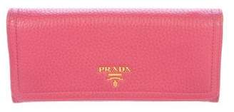 Prada Vitello Daino Continental Wallet