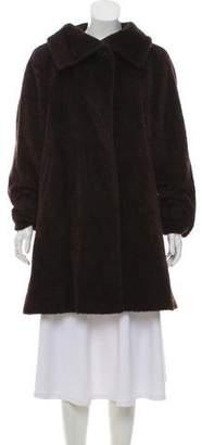 Max Mara Alpaca Mock Neck Coat