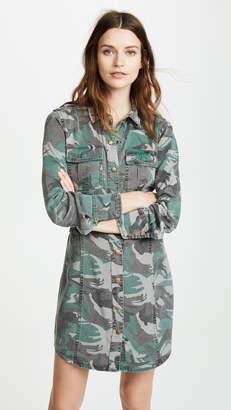 Pam & Gela Camo Shirt Dress
