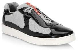 Prada Two-Tone Patent Leather Sneaker