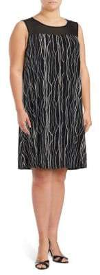 Vince Camuto Printed Illusion Dress