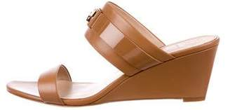 Tory Burch Leather Slide Wedges