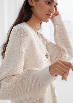 And other stories Cropped Cotton Cardigan