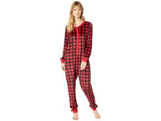 Karen Neuburger Buffalo Plaid Family Long Sleeve One-Piece PJ