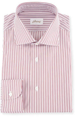 Brioni Two-Tone Striped Dress Shirt
