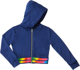 Flowers by Zoe Girl's Hooded Zip-Up Jacket w/ Rainbow Hem, Size S-XL