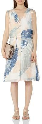 REISS Sirus Leaf Print Dress $340 thestylecure.com