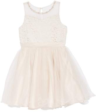 Blush by Us Angels Lace Bodice Tulle Dress (Big Girls)