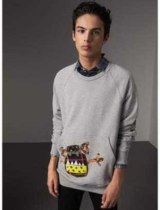 Burberry Creature Motif Jersey Sweatshirt