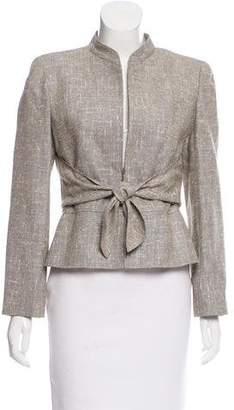 Valentino Silk-Wool Zip-Up Blazer w/ Tags