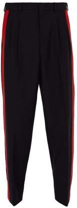 Stella McCartney Side Stripe Wool Trousers - Mens - Navy