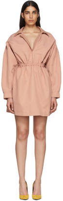 Stella McCartney Pink Faux-Leather Collar Dress