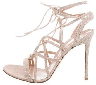 Gianvito Rossi Suede Lace-Up Sandals w/ Tags