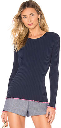 Milly Contrast Edge Pullover