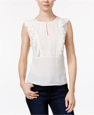 Maison Jules Pleated Ruffled Top, Only at Macy's $59.50 thestylecure.com