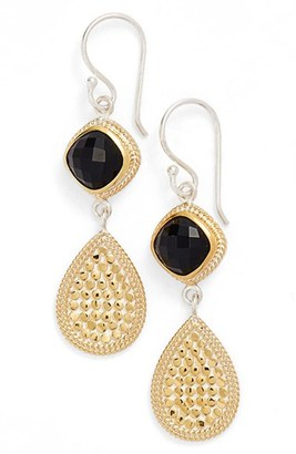 Women's Anna Beck Onyx Double Drop Earrings $185 thestylecure.com