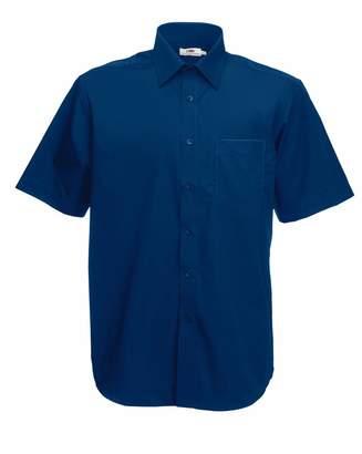 Fruit of the Loom Men's Short Sleeve Poplin Shirt 3xl