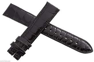 Locman Women's 18mm Black Alligator Leather Watch Band Strap