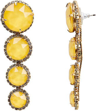 Elizabeth Cole Yellow Graduated Drop Earrings