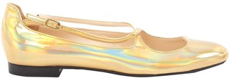 Camilla Elphick Gold Patent leather Flats