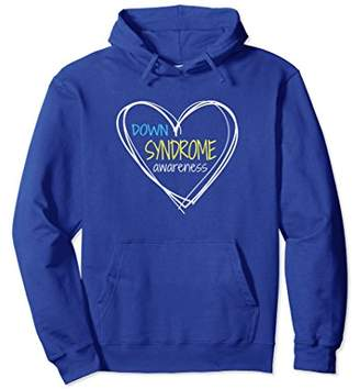 Down Syndrome Awareness Hoodie for Women with Hearts