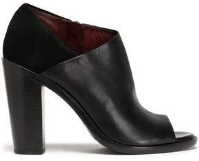 Rag & Bone Cutout Leather And Suede Ankle Boots