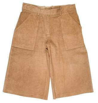 Theory Suede Knee-Length Shorts