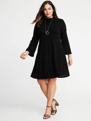 Old Navy Mock-Neck Rib-Knit Plus-Size Sweater Swing Dress