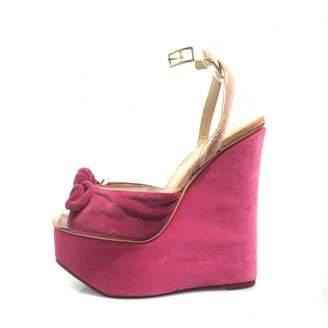 Charlotte Olympia Pink Velvet Heels