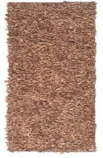 Safavieh Leather Brown Shag Rug