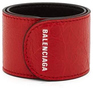 Balenciaga Cycle Logo Print Snap Bracelet - Mens - Red
