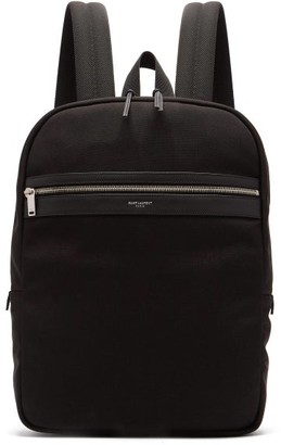 Saint Laurent City Canvas Backpack - Mens - Black