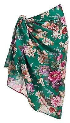 Zimmermann Women's Floral Print Cotton Sarong