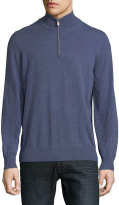 Brunello Cucinelli Men's Quarter-Zip Cashmere Sweater